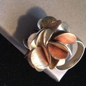 Silpada Sterling Silver, Brass &Copper Ring